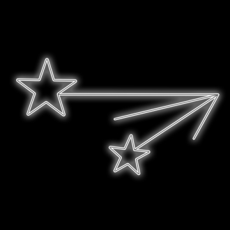 Figura Natalina Luminosa 4 Estrelas Braço de Poste FIG-027