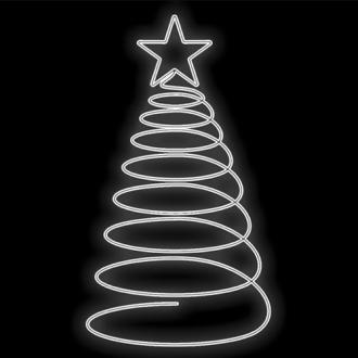 Figura Natalina Luminosa Arvore Espiral 1 Estrela Jardim FIG-030