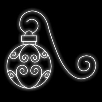 Figura Natalina Luminosa Bola Braço de Poste FIG-004