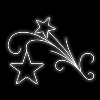 Figura Natalina Luminosa Estrelas e Arabescos Braço de Poste FIG-006