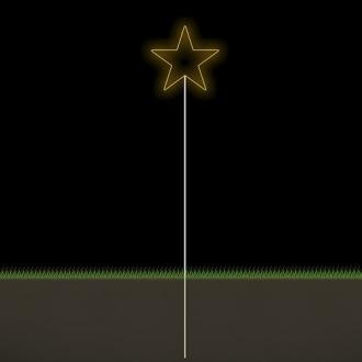 Figura Natalina Luminosa Estrelas Espeto de Jardim FIG-015