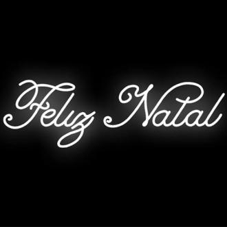 Figura Natalina Luminosa Feliz Natal Fachada FIG-036