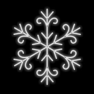 Figura Natalina Luminosa Floco de Neve Jardim FIG-009