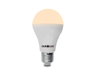 Lâmpada LED Bulbo Ouro 9W Bivolt 3000k