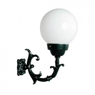 Luminária Colonial Decorativa Para Parede com Braço Globo Grande
