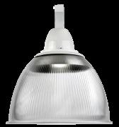 """Luminária prismática 16"""" canopla e gancho"""