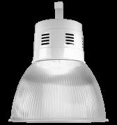 """Luminária prismática 16"""" com alojamento balde"""