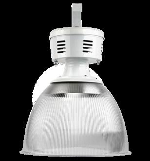 """Luminária prismática 16"""" com alojamento taça"""