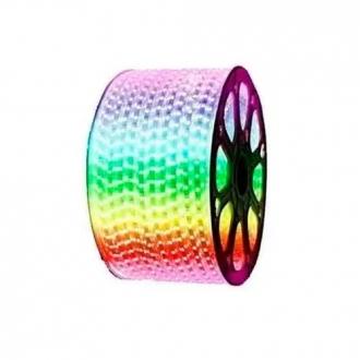 Mangueira LED 5050 Chata RGB Rolo 100MTS