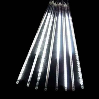 Luz de Natal Snowfall LED 8 Tubos de 50CM Luz Branco Bivolt