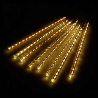 Luz de Natal Snowfall LED 8 Tubos de 50CM Luz Branco Quente Bivolt