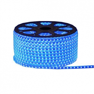 Luz de Natal Mangueira Luminosa LED SMD Azul 3014 Rolo 100MTS