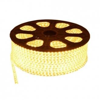 Luz de Natal Mangueira Luminosa LED SMD Branco Quente 3014 Rolo 100MTS
