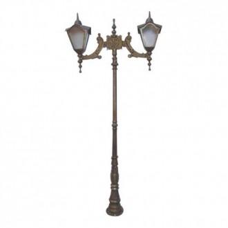 Poste Colonial Romano com 2 Luminárias