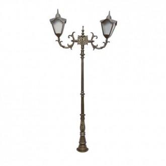 Poste Colonial Veneza com 2 Luminárias