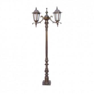 Poste Colonial de Jardim Verona Mine com 2 Luminárias