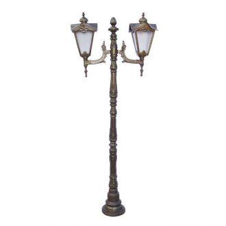 Poste Colonial Genebra com 2 Luminárias