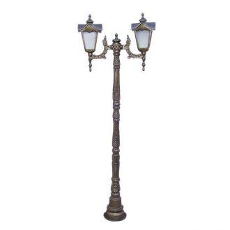 Poste Colonial Madri com 2 Luminárias