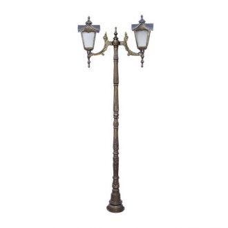 Poste Colonial Madri Maior com 2 Luminárias