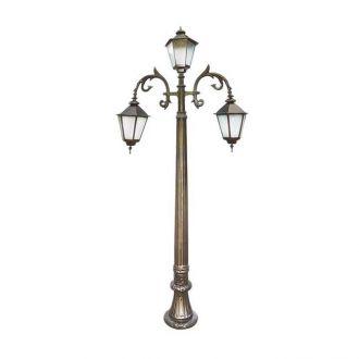 Poste Colonial Nápoles com 3 Luminárias