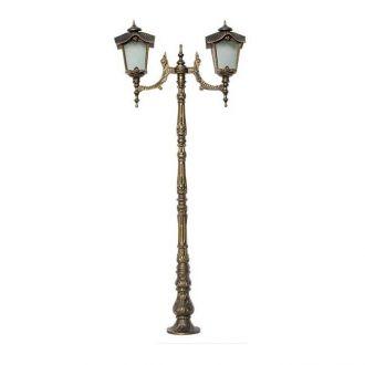Poste Colonial Porto com 2 Luminárias