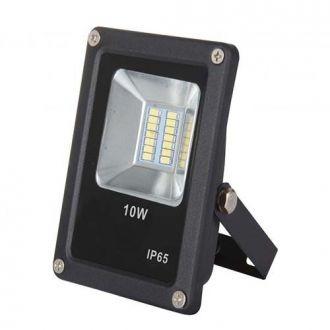 Refletor LED SMD 10W - Branco frio Preto