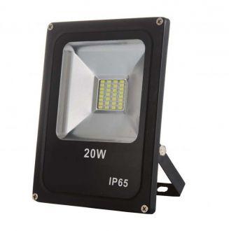 Refletor LED SMD 20W - Branco frio Preto