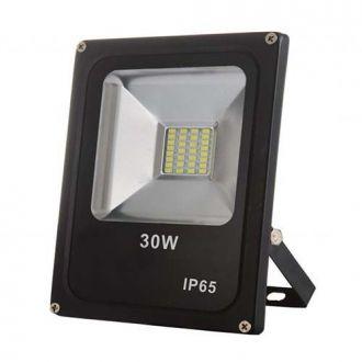 Refletor LED SMD 30W - Branco frio Preto