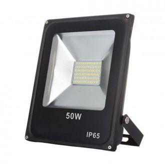 Refletor LED SMD 50W - Branco frio Preto