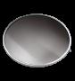 Lente de Vidro liso C/ Aro Para Luminária Prismática