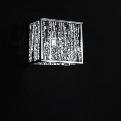 Arandela Adágio Metal e Cristal 1xG9, Cromado e Transparente   - RJE ILUMINAÇÃO