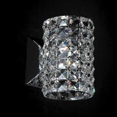 Arandela Gliss 12x14x16cm Metal e Cristal 1xG9, Cromado e Transparente  - RJE ILUMINAÇÃO