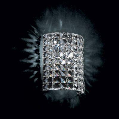 Arandela Gliss 18x9x22cm Metal e Cristal 1xG9, Cromado e Transparente  - RJE ILUMINAÇÃO