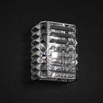 Arandela Recital Metal e Cristal 1xG9, Cromado e Transparente   - RJE ILUMINAÇÃO