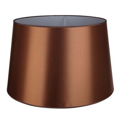 Cúpula Para Abajur Color  Metal e Tecido - Cor Dourado  - RJE ILUMINAÇÃO
