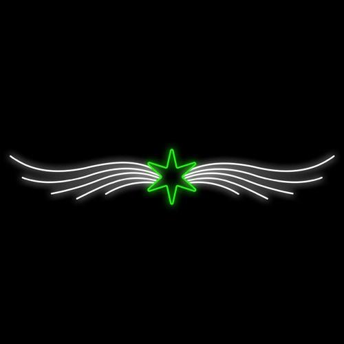 Figura Natalina Luminosa 1 Estrela Portal FIG-042  - RJE ILUMINAÇÃO