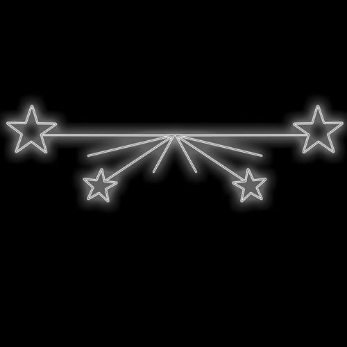 Figura Natalina Luminosa 4 Estrelas Braço de Poste FIG-027  - RJE ILUMINAÇÃO