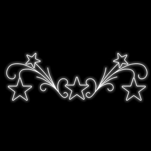 Figura Natalina Luminosa 5 Estrelas Portal FIG-007  - RJE ILUMINAÇÃO