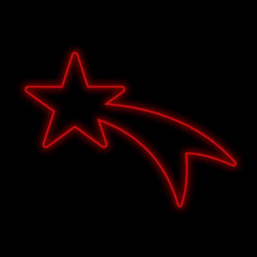 Figura Natalina Luminosa Cometa Braço de Poste FIG-013A  - RJE ILUMINAÇÃO