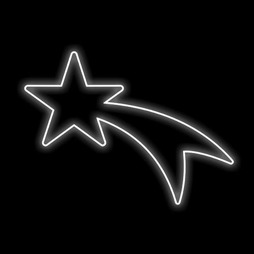 Figura Natalina Luminosa Cometa Braço de Poste FIG-013B  - RJE ILUMINAÇÃO