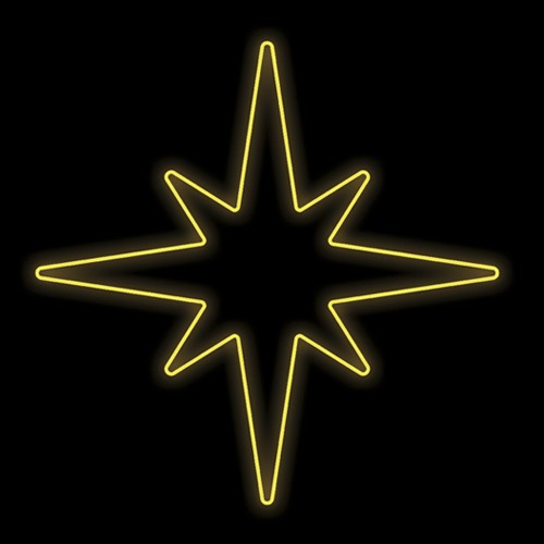 Figura Natalina Luminosa Estrelas 8 Pontas de Jardim FIG-010  - RJE ILUMINAÇÃO