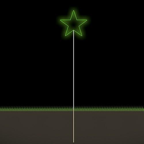 Figura Natalina Luminosa Estrelas Espeto de Jardim FIG-015  - RJE ILUMINAÇÃO