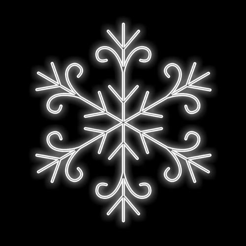 Figura Natalina Luminosa Floco de Neve Jardim FIG-009  - RJE ILUMINAÇÃO