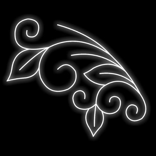Figura Natalina Luminosa Galhos e Folhas Braço de Poste FIG-005  - RJE ILUMINAÇÃO