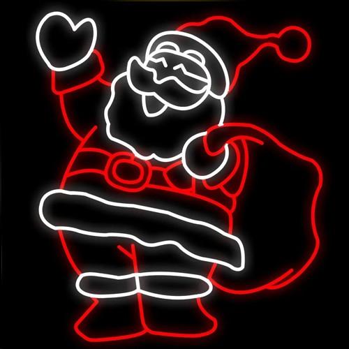 Figura Natalina Luminosa Papai Noel Fachada FIG-039  - RJE ILUMINAÇÃO