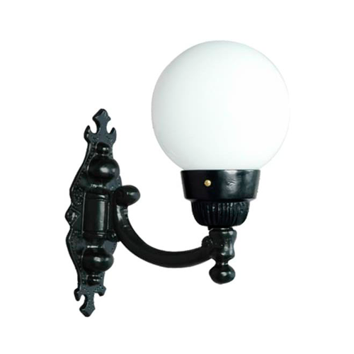 Luminária Colonial Decorativa Para Parede com Braço Globo Pequeno I  - RJE ILUMINAÇÃO