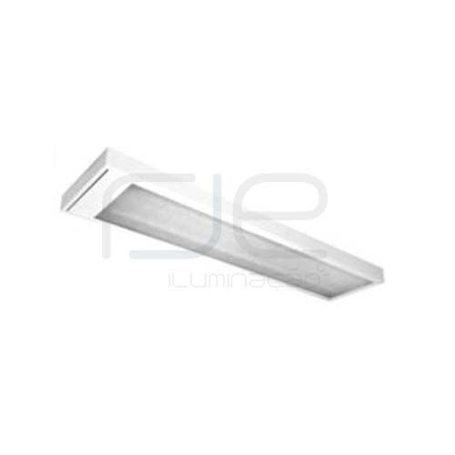 Luminária comercial de sobrepor para 2 lâmpadas c/ difusor acrílico ou leitoso • RJS014ACR  - RJE ILUMINAÇÃO