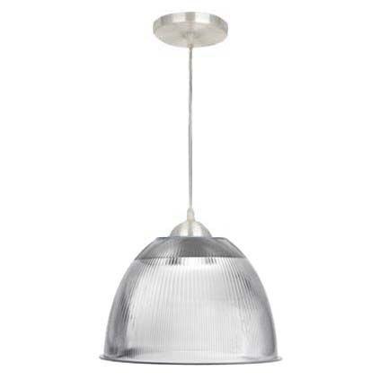 """Luminária Prismática Pendente Alumínio 12""""  - RJE ILUMINAÇÃO"""