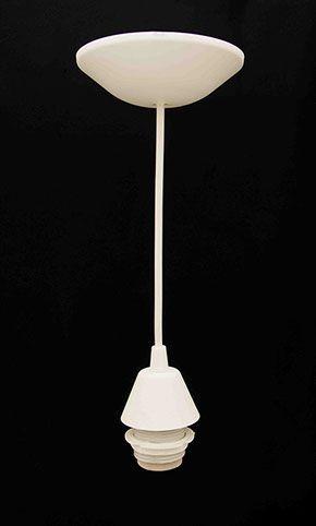 """Luminária prismática 12"""" pendente branco  - RJE ILUMINAÇÃO"""