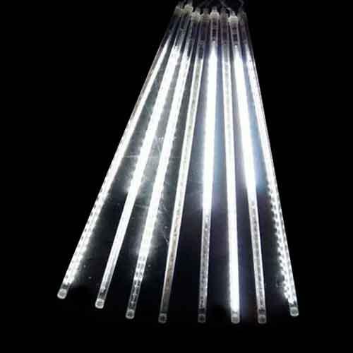 Luz de Natal Snowfall LED 8 Tubos de 50CM Luz Branco Bivolt  - RJE ILUMINAÇÃO